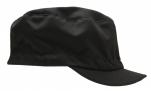 Casquette alimentaire noire, visière rigide, 65% polyester et 35% coton, TU