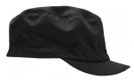 Food black cap, rigid peak, 65% polyester and 35% cotton, one size, 200 gr/m²