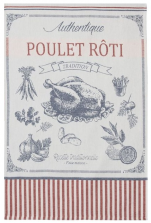 Towels for dishes Authentic roast chicken 100% cotton jacquard 50x75 cm