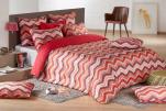 Duvet cover + pillowcase 65x65 cm 100% cotton zig zag style wool knit