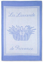 Towels for dishes Lavender of Provence blue 100% cotton jacquard 50x75 cm