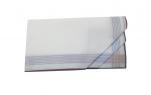 Mouchoirs Homme 2x3 couleurs 100% coton 44x44 cm : 1 paquet de 6 mouchoirs
