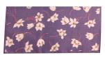 Mouchoirs Dame 100% coton imprimé fleurs fond prune 35x35cm : 1 paquet de 12