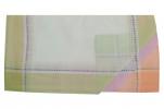 Ladies handkerchief 2x3 colors 100% cotton 30x30 cm : 1 pack of 6 handkerchiefs