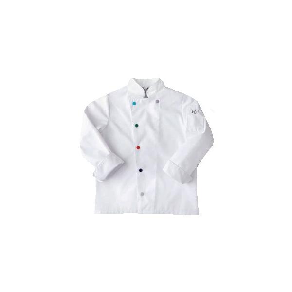 Veste de cuisine blanche pour enfant polycoton for Cuisine enfant blanche