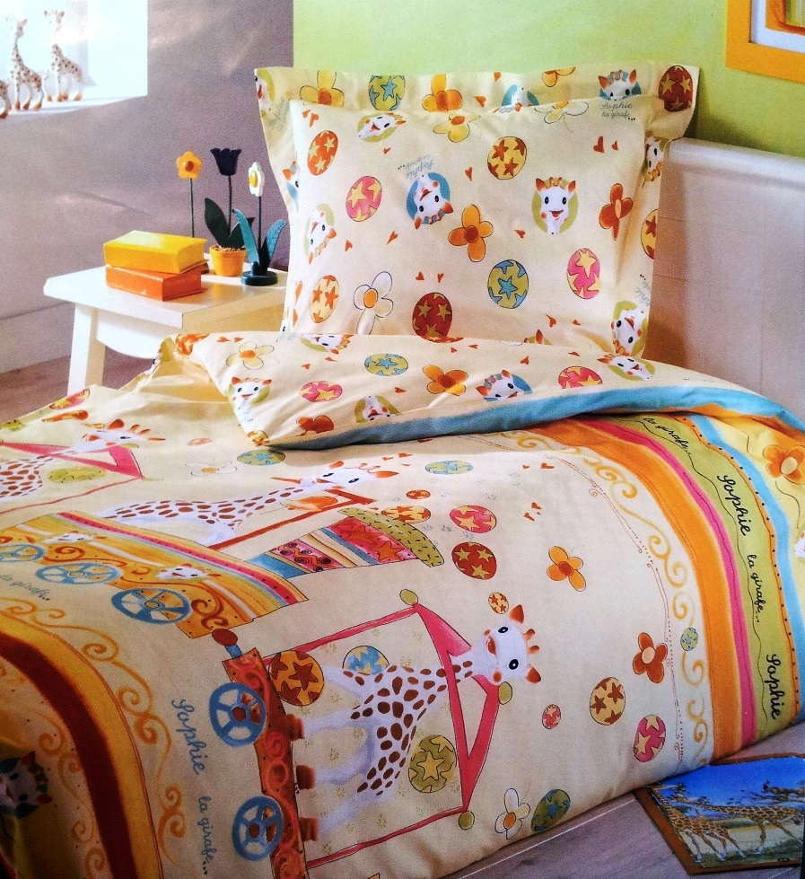Housse couette + taie Sophie la girafe 10