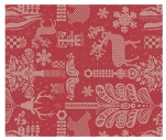 Placemat 40x49 cm 100% cotton red and beige christmas magic