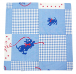 Cushion cover 40x40 cm Chipie vichy blue 100% cotton printed