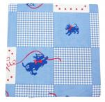 Cushion cover 40x40 cm Chipie vichy blue 100% cotton printed