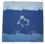 Housse coussin 40x40 cm Chipie fantaisie bleu 100% coton imprimé