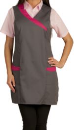 Tabard fancy polycotton 65/35 2 pockets press studs TU 80cm height