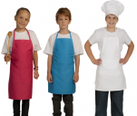 Children's apron, polycotton 65/35 adaptable pocket H:60 cm washable 60°C
