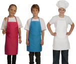 Tablier bavette enfant, polycoton 65/35 adaptable poche H:60 cm lavable 60°C