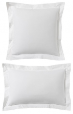 Pillowcase 100% percale cotton White easy care