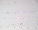Dentelle broderie anglaise 100% coton blanc 100mm