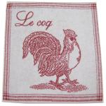 Essuie cuisine ou essuie main 50x50 cm Le coq 100% coton jacquard