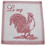 Hand towel 50x50 cm rooster 100% cotton jacquard