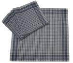 Work handkerchiefs 50x50 cm vichy square blue and white 100% cotton 12 pieces