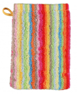 Washcloth 16x22cm 100% cotton terry multicolored lines double sided