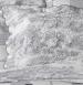 Reversible Boutis Toile de Jouy grey 100% cotton percale, easy iron