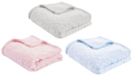 Bubble soft blanket 75x100 or 100x150 cm microfiber 100% polyester