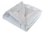 Soft gray Baby blanket 75x100 microfiber100% polyester fur look