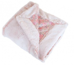 Soft pink Baby blanket 75x100 microfiber100% polyester/cotton fur look
