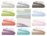 Plain colour soft blanket 75x100 or 100x150 cm microfiber 100% polyester