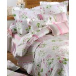 Housse couette reversible + taie(s) 65x65 cm tendresse 100% coton percale
