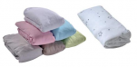 Waterproof fitted sheet, 2 in 1, 100% cotton jersey + PU membrane160 gr/m²
