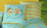 Flat bed sheet 180x290 and 1 pillowcase 61x61 apple of api frogs 100% cotton
