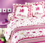 Flat bed sheet 180X290, 1 pillowcase 60x64 100% cotton Chipie marshmallow pink