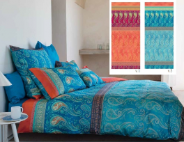 Duvet cover (and pillowcase) 100% cotton satin Scauri Bassetti