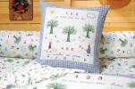 Flat bed sheet 180X290 + 1 pillowcase 65x65 cm 1,2,3 cherry 100% cotton