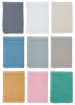 Washcloth 15x21 cm 100% terry cotton Bio Fairtrade Cotton 450 gr/m²