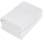 Serviette 100% coton éponge blanc 50x90 cm, 360gr/m², absorbant, lavable 95°C