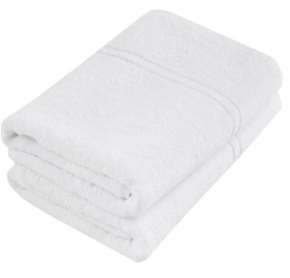 Towel 100% cotton terry white 50x90 cm 360gr/m² absorbent washable 95°C