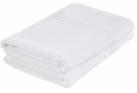 Bath towel 100% cotton terry white 70x140cm 360gr/m² absorbent washable 95°C
