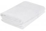Drap bain 100% coton éponge blanc 70x140cm 360gr/m² absorbant lavable 95°C