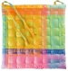 Set of 2 chair cushions 1 side coated and 1 side cotton multicolor 38x38x3 cm