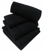 Serviette 50x80 cm spéciale coiffeur et esthétique 100% coton éponge noir