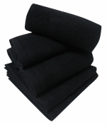 Towel 50x80 cm special hairdressers and beauty 100% terry cotton black