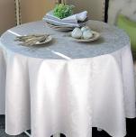 Nappe, vis-à-vis, set table, serviette fleurs nacrées 100% coton (36)