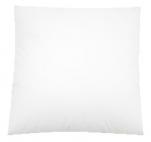 Coussin 40x40cm 100% coton blanc tirette lavable de 40 à 60°C