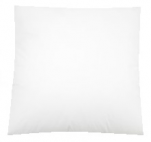 Cushion 40x40cm 100% cotton white zipper, washable from 40 to 60°C