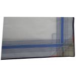 Mens handkerchiefs 2x3 colors 100% cotton 44x44 cm : 1 pack of 6 handkerchiefs