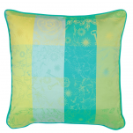 2 Cushion covers green flowers and keys 40x40 or 50x50 cm 100% cotton