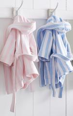 Peignoir à capuche enfant 100% coton éponge jacquard velours, 360 gr/m²