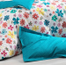 Duvet cover + pillowcases Colorful flowers and peas 100% cotton