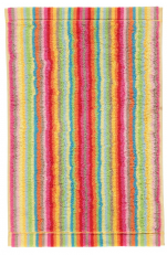 Guest towel 30x50 cm 100% cotton terry multicolored lines double sided